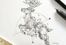 Geometric Beasts by kerbyrosanes