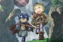"Made in Abyss / ""Even if we never get to see each other again, we'll be connected by the Abyss. Whether it's on the surface... or on the far reaches of the cursed netherworld...the two of us...are connected to the Abyss!"""
