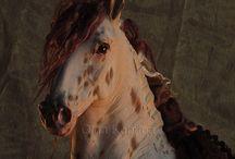 My horse sculpture .