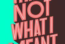hand-lettering & typography / Handlettering, typography, quotes, words