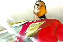 """Artist - Alex Ross / Ross' style has been said to exhibit """"a Norman-Rockwell-meets-George-Pérez vibe"""", and has been praised for its realistic, human depictions of classic comic book characters. His rendering style, his attention to detail, and the perceived tendency of his characters to be depicted staring off into the distance in cover images has been satirized in Mad magazine. Because of the time it takes Ross to produce his art, he primarily serves as a plotter and/or cover artist. / by Art Williamson"""