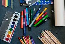 Art & Craft supplies, materials & display / Art & Craft supplies, materials & display {sunnydays}