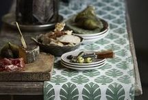 Bungalow - Danish Home Decor / Beautiful home decor - block print linens, colorful glazed tableware, cozy cushion covers - from Bungalow in Denmark available @estheticliving.com