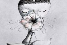 Bianco e nero / Illustrazione, Signor Fox, illustrazione per bambini