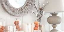 FALL HOME DECOR! / How can you not LOVE autumn?! The leaves changing, the PSLs, Thanksgiving... and obviously the fun fall home decor!! Here are a bunch of fun fall decorating and harvest home decor ideas from Ascension Ohio to you! Lots of fun DIY projects such as how to arrange your pumpkins, candles, and flowers!