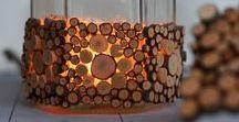 Med Naturmaterial   With Natural materials / Idéer & inspiration till pyssel med material hämtat från naturen.