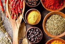 Spices / At Asha's, spices of yellow, orange and burgundy come together to sing in harmony.