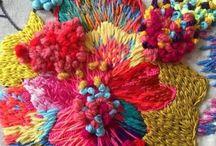 Broderie/rubans/textiles/quilt/tricots