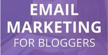 Email Marketing for Bloggers / Email Marketing tips and tricks for bloggers. Learn strategies, tips, resources and tools to grow your blog and business with email campaigns. Email marketing, email newsletters, email sales funnels, and how to build an email list.