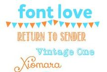 fonts / by Jenéa Midgett