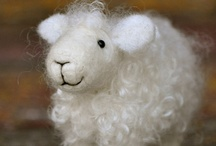 Needle Felted sheep by Teresa Perleberg / Sheep sculptures that are solid wool made using the art of needle felting with wool from the artist's flock of sheep.