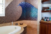 Bathrooms / Most of the bathrooms aren't pieces of art but we forgot that a pretty mosaic can change everything. I pin the bathrooms that make me dream while taking a bath or a shower.