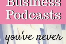 Entrepreneur Podcasts & Inspiration / What to start your own business? Are you already an entrepreneur who is looking for some inspiration and motivation? This board has pins for all sorts of entrepreneurs (lady bosses included!) and also podcast suggestions to help entrepreneurs. Podcasts are a great way to learn tips and tricks to help start & grow your new business!