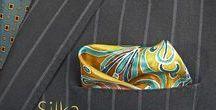 Poszetki jedwabne ręcznie malowane
