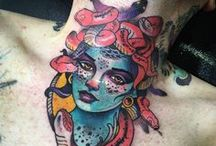 Tatuajes neotradicionales / Galería de tatuajes de estilo neotradicional.