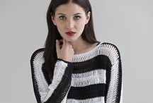 Crochet Love / We adore stylish designs in crochet. Discover crochet patterns and designs for tops, sweaters, accessories and more in Tahki Yarns, S. Charles Collezione, and Filatura Di Crosa yarns!