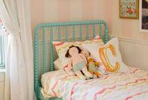Big Girl Bedroom / Pink, coral, orange decor for a girl's bedroom