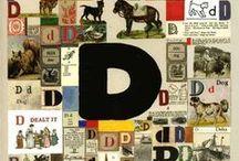 "Letter D / D as in ""dog"" / by Beth Kahler"