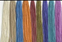 Luscious Yarns / We LOVE yarn--wool, cotton, linen, silk, mohair and more! Discover beautiful photos of yarns from Tahki Yarns, S. Charles Collezione, and Filatura Di Crosa.
