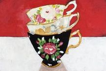 """Cups for Tea ~199~ / """"Come, let us have some tea and continue to talk about happy things."""" Chaim Potok   / by Beth Kahler"""
