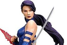 """Collection - Psylocke / My Psylocke from """"X-men"""" collectibles"""