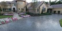 Cobble Driveways / Cobblestone architecture has an old world charm and lends a certain sophistication to any landscape.  Cobblestone driveways are a classic addition to any home.  Visit Cobble Systems by Riccobene www.cobblesystems.com