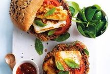 Burgers & Sandwiches / Homemade veggie burgers and sandwiches are an excellent source of protein for vegetarians! So satisfying and delicious, they will impress vegetarians and meat eaters alike!