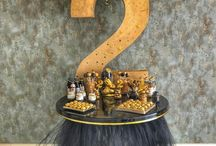 Gold & black 2nd birthday party