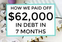 Debt Freedom / Getting out of debt, paying off debt, pay off credit cards, paying off student loans.