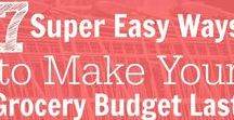 Grocery Budget Hacks / Tips for saving money at the grocery store by building stockpiles, couponing and shopping smart.