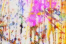 My Paintings / Ricki Mountain = Artist +Designer + Maker + Geek My Abstract Art paintings & Mixed Medium Art On Canvas Home Decor  #art   #ricki mountain    #rickimountain