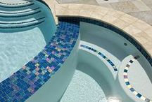 Pools / swimming pools, garden spaces, patios and outdoor areas
