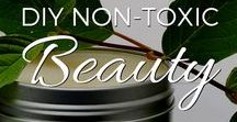 DIY Non-Toxic Beauty / Articles on how to avoid toxins in your make-up and personal care products, and recipes for DIY, natural and non-toxic shampoos, soaps, lotions, make-up and more!