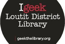 "Geek the Library / Loutit District Library is participating in a public awareness campaign designed to highlight the vital role of the library in our community called ""Geek the Library."" The Geek campaign utilizes the word ""geek"" as a verb. Whatever you geek, the library supports you. Everyone is passionate about something - everyone geeks something. Share what you geek, see what other people are geeking. For more information, visit geekthelibrary.org."