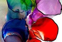 glass art / I love color, so I've chosen glass with vibrant color for this board / by Susan Baim