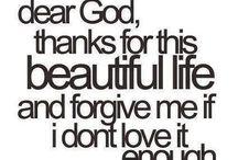 Gratitude / Being thankful