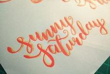 Hand Lettering Practice / Practising my hand lettering with quotes, daily life and more! :) / by Ruchika Sukumar