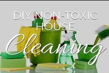 DIY Non Toxic House Cleaning / There are over 85,000 chemicals used today that have never been tested for safety. Many of them are found in the cleaning products you can buy at the store, and even though many are extremely toxic, manufacturers are not required to list them!   Get a healthy, green clean with these DIY recipes and techniques for cleaning up WITHOUT the use of toxic chemicals. / by Small Footprint Family