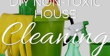 DIY Non Toxic House Cleaning / There are over 85,000 chemicals used today that have never been tested for safety. Many of them are found in the cleaning products you can buy at the store, and even though many are extremely toxic, manufacturers are not required to list them!   Get a healthy, green clean with these DIY recipes and techniques for cleaning up WITHOUT the use of toxic chemicals.