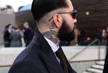 The  style of men's hair