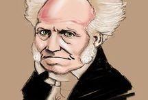 ritratti e caricature / filosofi, poeti, eroi, geni, cretini, scemi e umanità varia.
