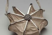 Bag, purse, reticule & fan