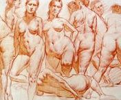 The art of the sensual female nude / Drawings, sketches, paintings of the sensual female nude body.