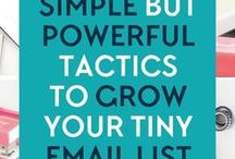 Email Marketing / grow your list, get more subscribers, connect with your subscribers, write better emails, mailing list, newsletter list, email list, email subscribers, opt-in freebies, the welcome email, email funnels