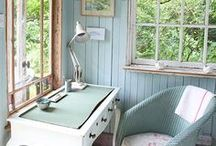 Reading + Writing Nooks / cozy places, private places, reading books, writing, journaling, window nooks, dreamy nooks, decor for reading or writing nook