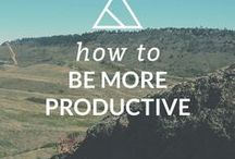 Productivity Tips / get things done, list making, accomplishing goals, boost your productivity, be more productive, stop procrastinating, productive work habits, time management skills, work-at-home productivity, increase your productivity