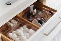Organization / Ideas for organizing, storing and decorating.