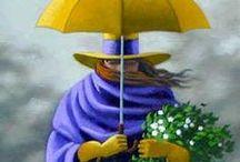 RAIN IN ART