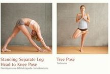 Yoga Poses / Examples of various yoga postures.