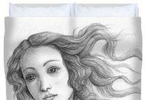 Printed artisan duvet covers / by Stevie The floating artist